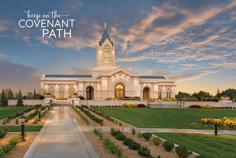 Fort Collins Temple - Sunset Lights 12x18 repositionable poster