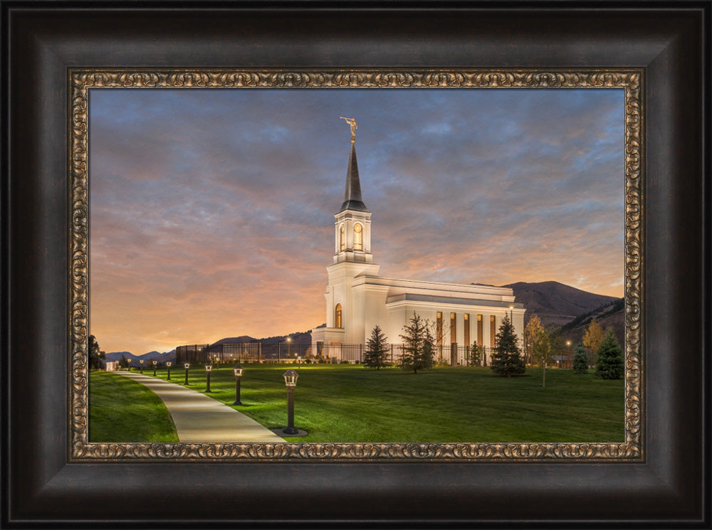 Star Valley Temple - Eventide by Robert A Boyd