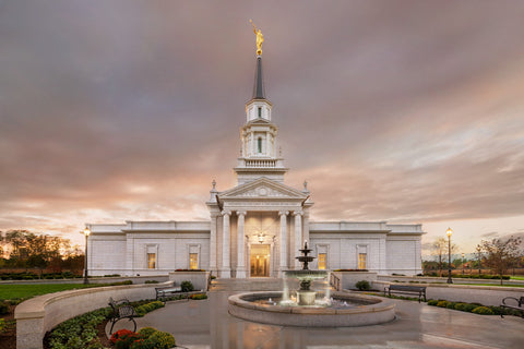 Hartford Temple - Rain Path by Robert A Boyd