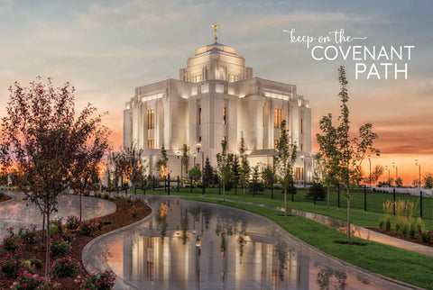 Meridian Temple - Covenant Path 12x18 repositionable poster