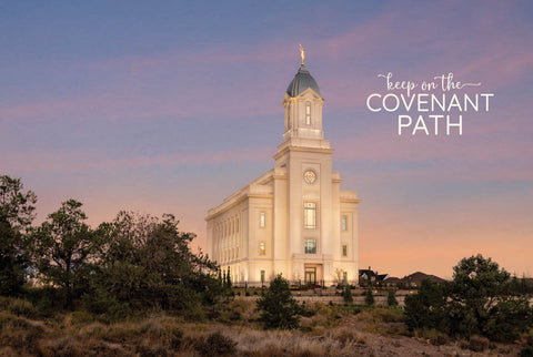 Cedar City Temple - Junipers 12x18 repositionable poster
