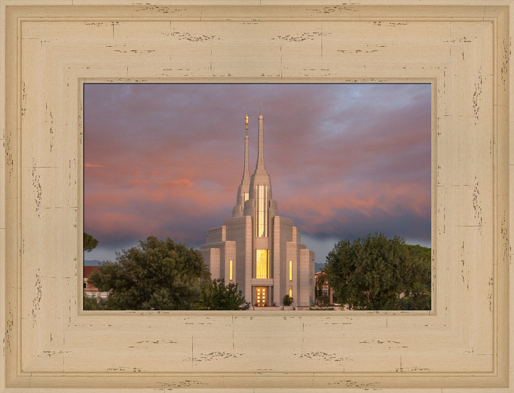 Rome Temple - Gold Reflection by Robert A Boyd