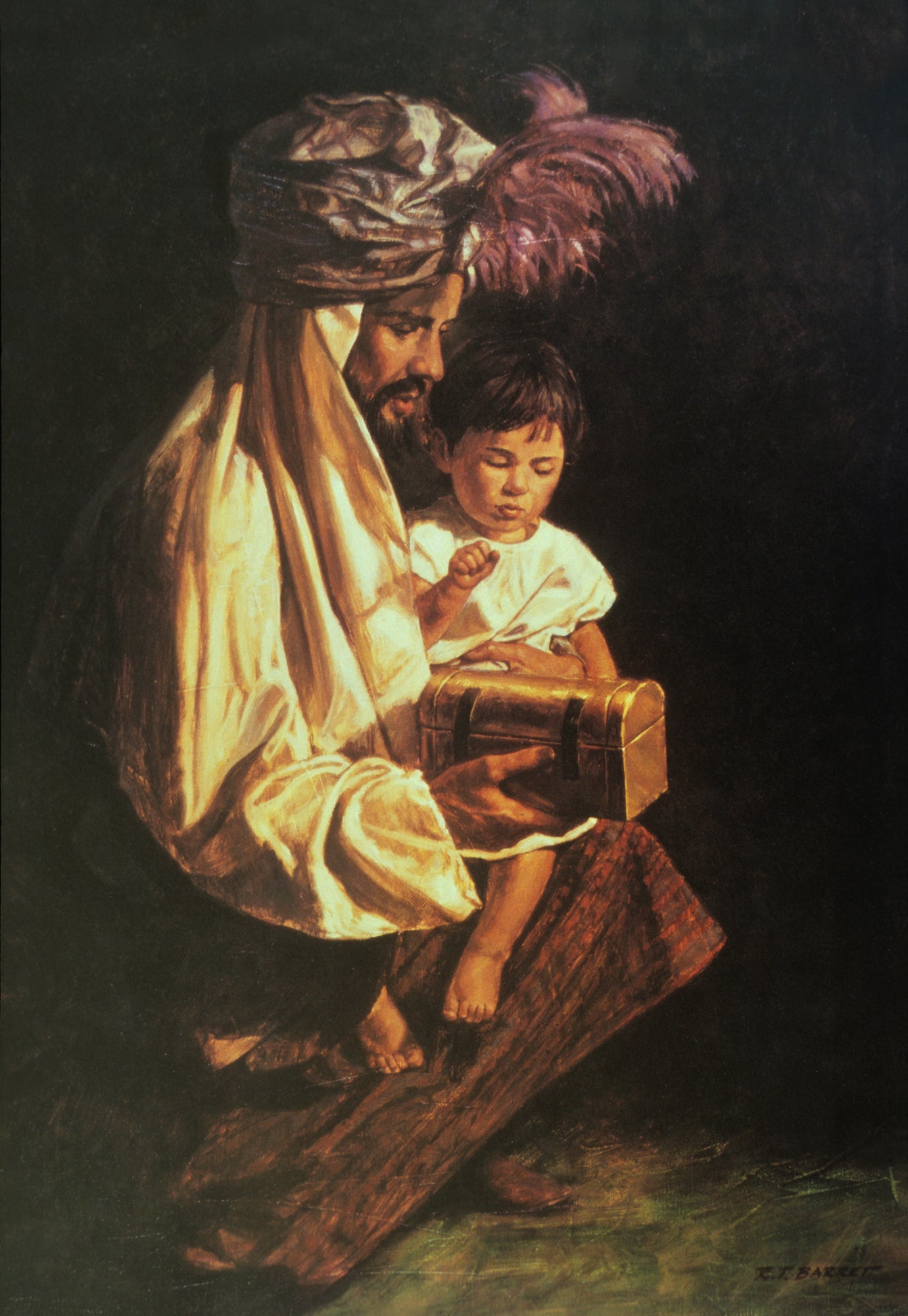 Young Christ with a Wiseman by Robert Barrett