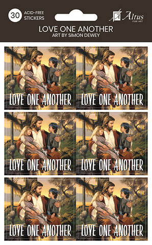 Love One Another sticker set pack of 30