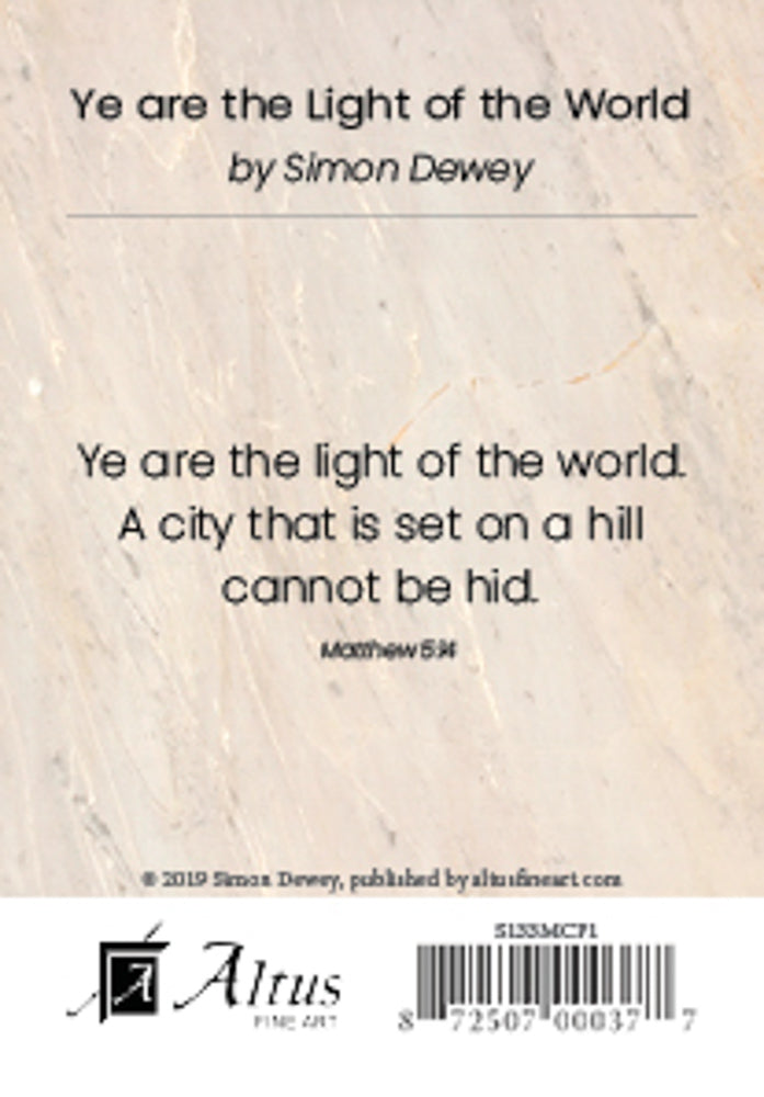 Ye Are the Light of the World by Simon Dewey
