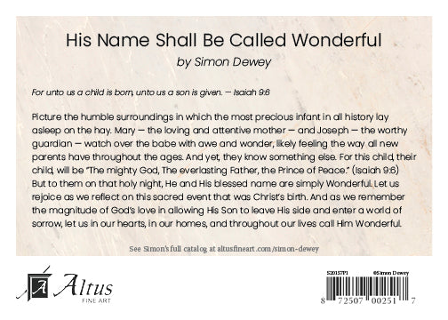 His Name Shall Be Called Wonderful by Simon Dewey