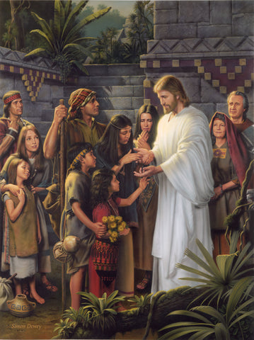 Jesus appears to the Nephites in America shortly after his resurrection.