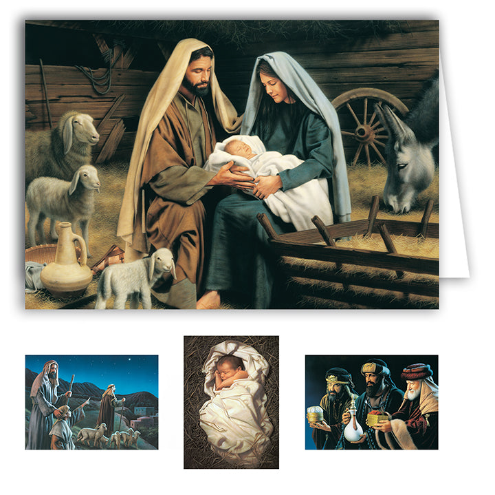 Simon Dewey  Boxed Christmas Cards   (20 Cards - 5 Each of 4 Designs)