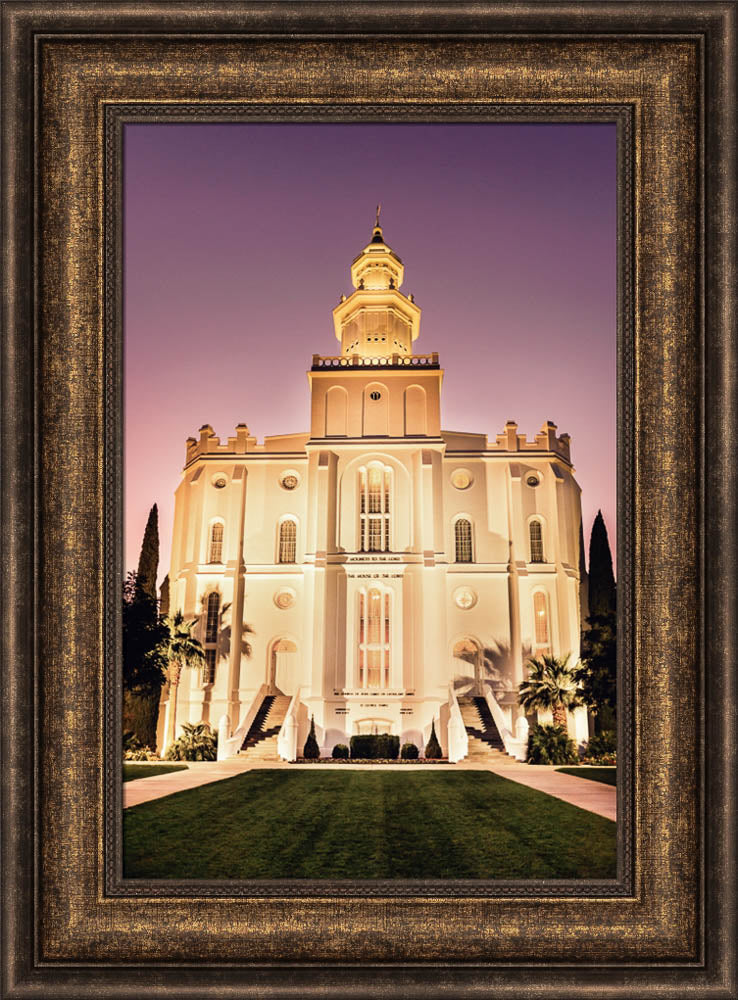 St George Temple - Twilight by Scott Jarvie