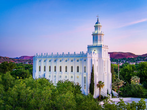St George Temple - From the Trees by Scott Jarvie