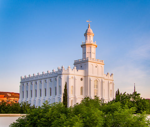 St George Temple - First Light by Scott Jarvie