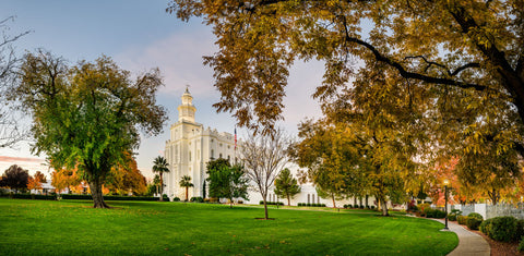 St George Temple - Fall Colors by Scott Jarvie