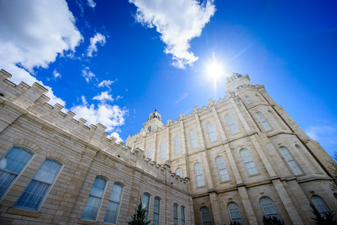 Manti Temple - From Below by Scott Jarvie