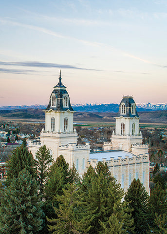 Manti Temple - Above the Trees 5x7 print