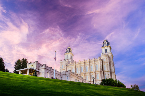 Manti Temple - Purple Hill by Scott Jarvie