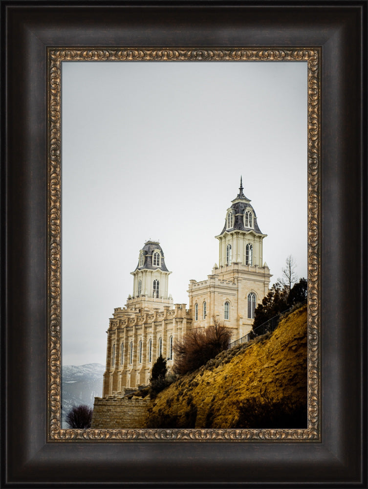 Manti Temple - Behind the Hill by Scott Jarvie