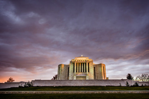Cardston Temple - Purple Storm by Scott Jarvie