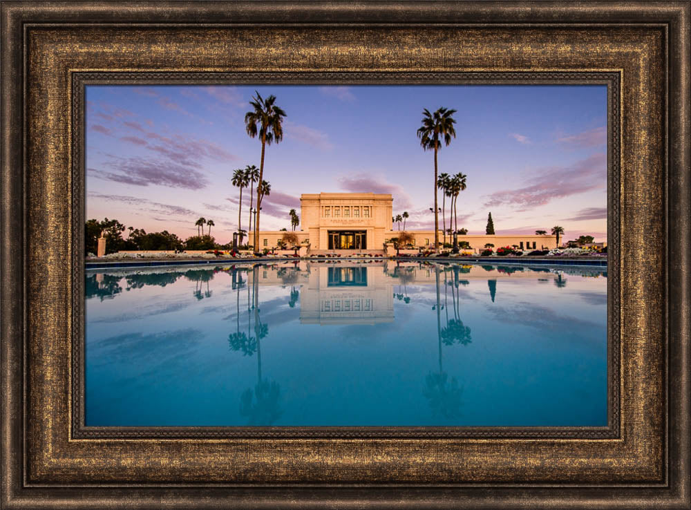 Mesa Temple - Sunset Reflection by Scott Jarvie