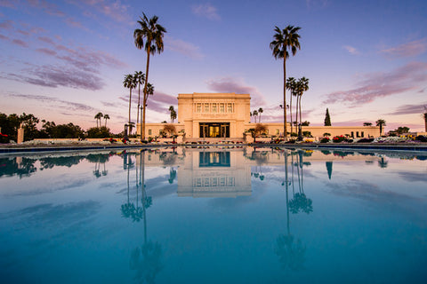 Mesa Arizona Temple- Sunset Reflection 10x15 gallery wrap