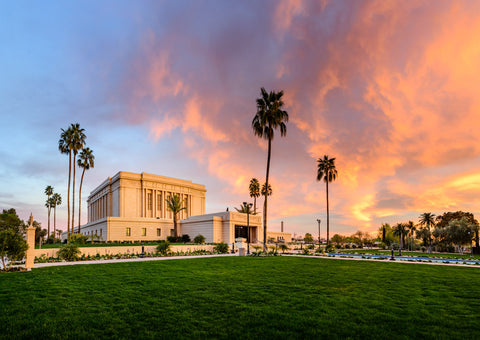 Mesa Temple - Sunset on Fire by Scott Jarvie