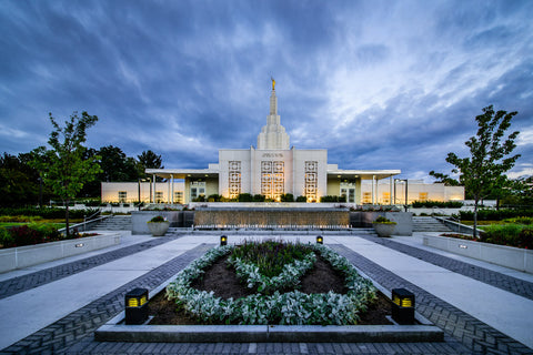 Idaho Falls Temple - From the Front by Scott Jarvie