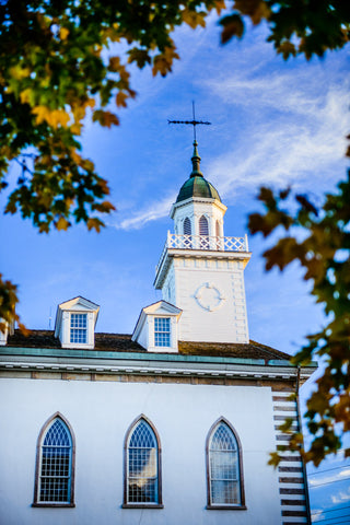 Kirtland Temple - Through the Trees by Scott Jarvie