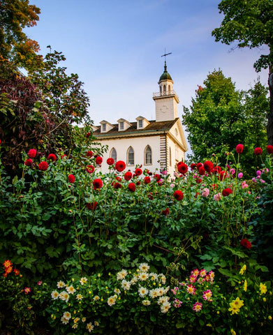 Kirtland Temple- Flowers by Scott Jarvie