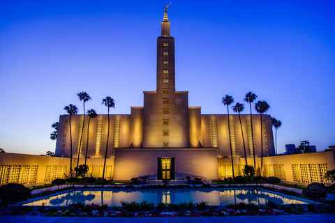 Los Angeles Temple - Evening Reflection by Scott Jarvie