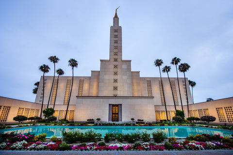 Los Angeles Temple - Garden Reflection Pool by Scott Jarvie