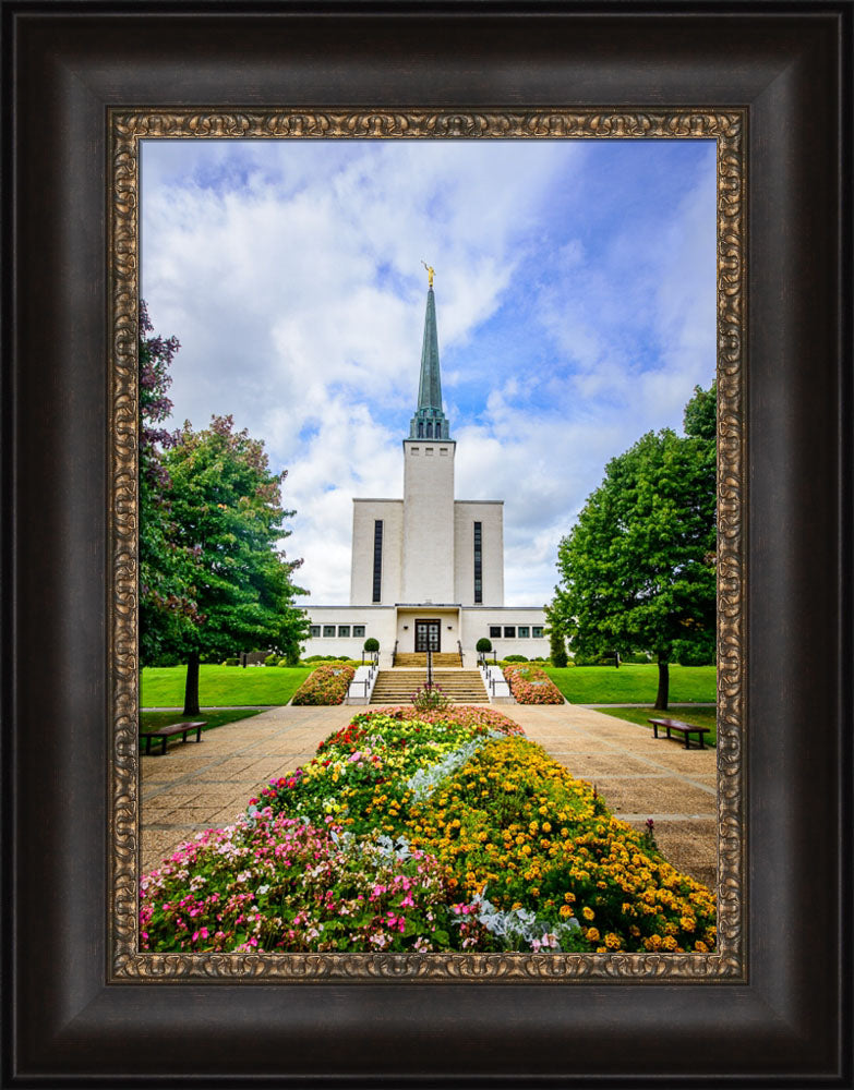 London Temple - Flower Entrance by Scott Jarvie