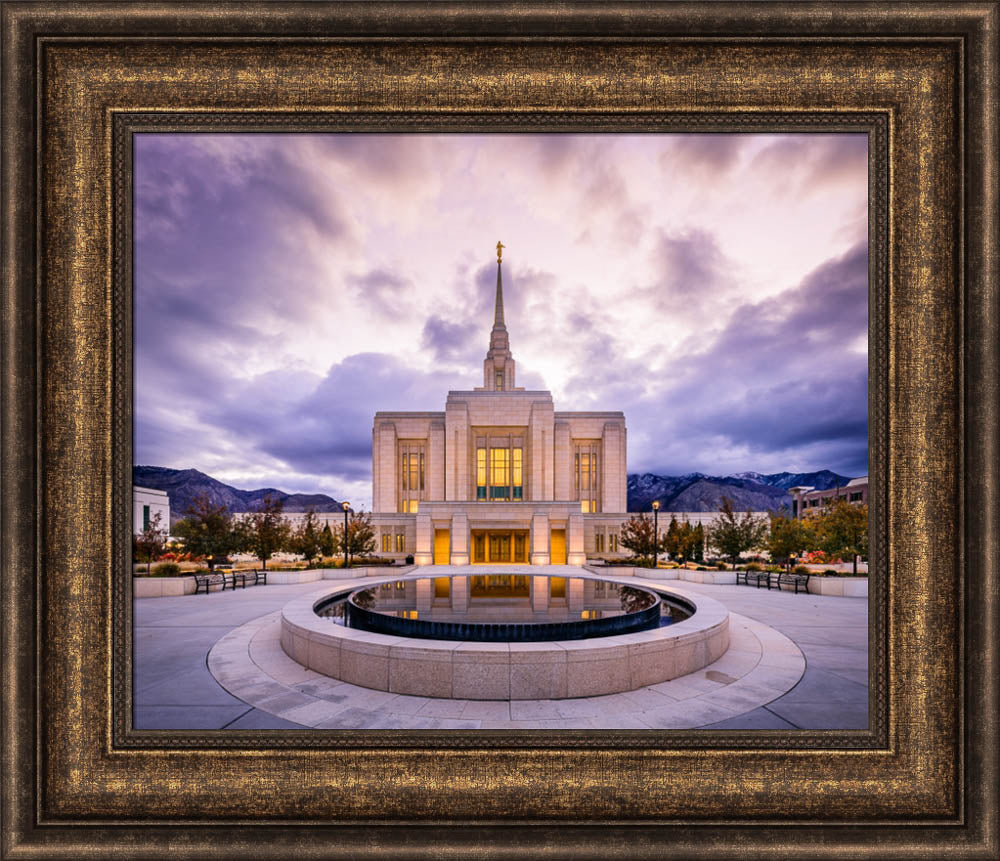 Ogden Temple - Morning Reflection by Scott Jarvie