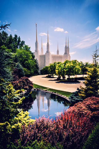 Washington DC Temple - Daytime Reflection by Scott Jarvie