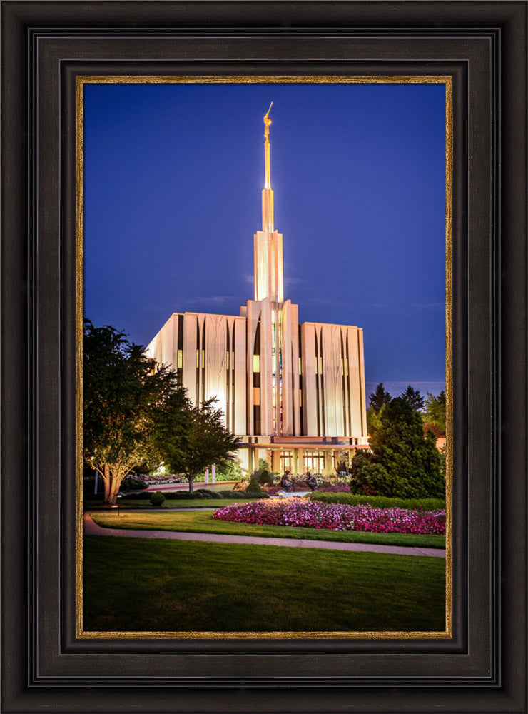 Seattle Temple - Sunset from the Front by Scott Jarvie