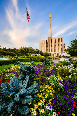 Seattle Temple - Garden View by Scott Jarvie