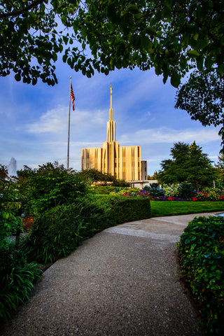 Seattle Temple - Pathway to the Temple by Scott Jarvie
