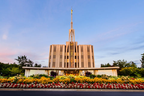 Seattle Temple - Flower Garden by Scott Jarvie