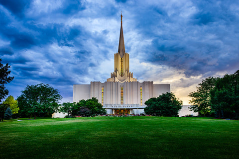 Jordan River Temple - Green Hill by Scott Jarvie