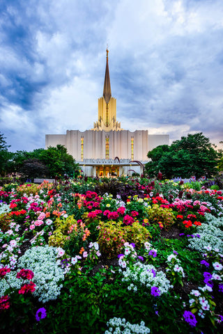 Jordan River Temple - Below the Garden by Scott Jarvie