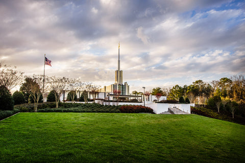 Atlanta Temple - Lawn View by Scott Jarvie