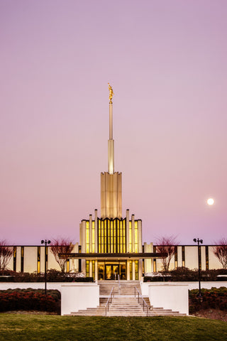 Atlanta Temple - Pink Morning by Scott Jarvie