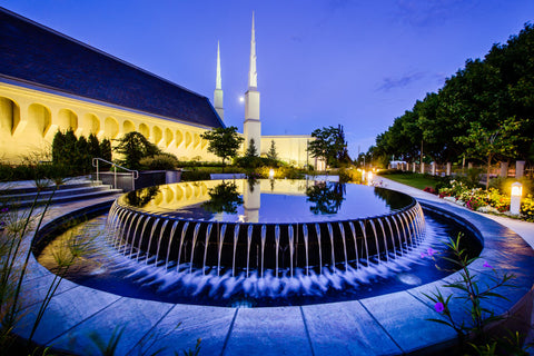 Boise Temple - Reflection Pool by Scott Jarvie