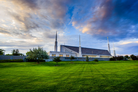 Boise Temple - From the Side by Scott Jarvie