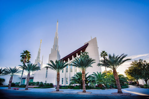 Las Vegas Temple - Blue Skies from the Front by Scott Jarvie