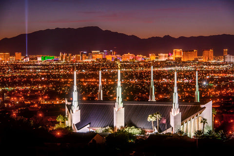 Las Vegas Temple - Night Sky by Scott Jarvie