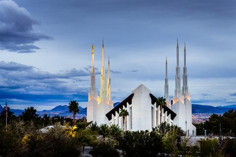 Las Vegas Temple - Above the Trees by Scott Jarvie