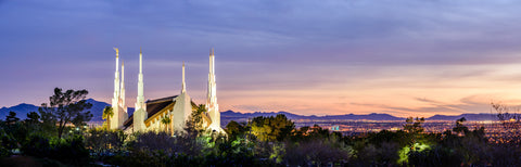 Las Vegas Temple - A Light to the City by Scott Jarvie
