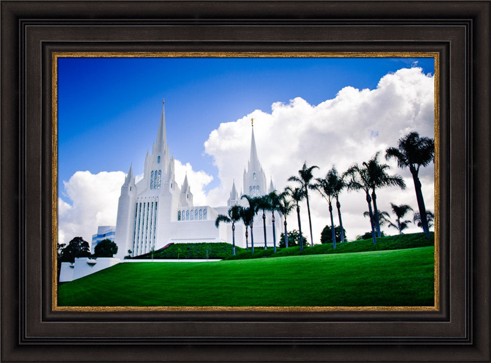 San Diego Temple - Summer Palms by Scott Jarvie