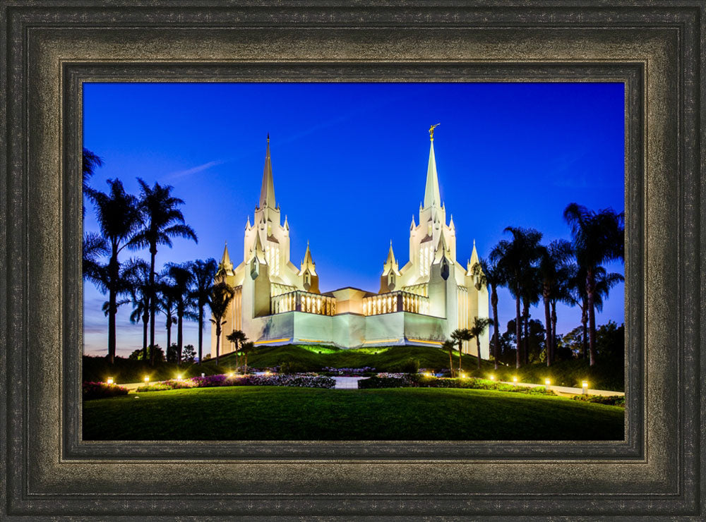 San Diego Temple - Lights on a Hill by Scott Jarvie