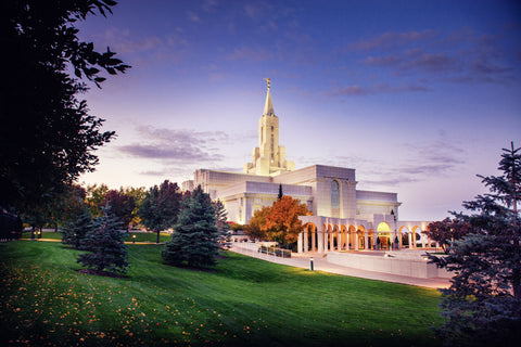 Bountiful Temple - Fall Sunrise by Scott Jarvie