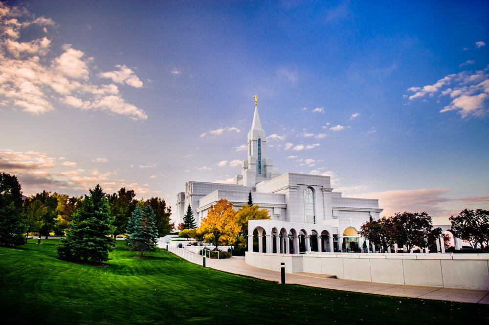 Bountiful Temple - Early Fall by Scott Jarvie